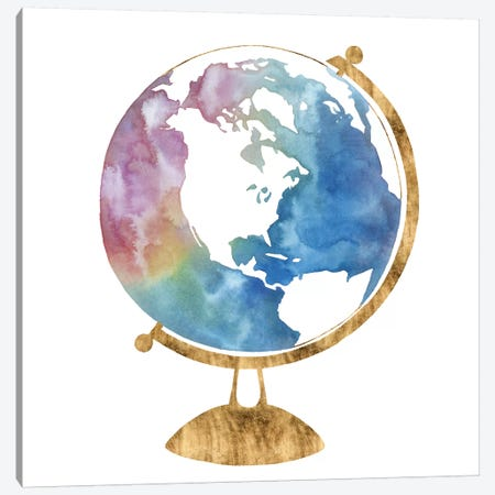 Adventure Globe II 3-Piece Canvas #POP979} by Grace Popp Canvas Art