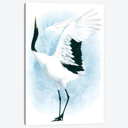 Dancing Crane I Canvas Print #POP996} by Grace Popp Canvas Print