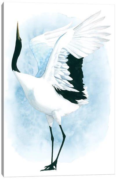 Dancing Crane I Canvas Art Print