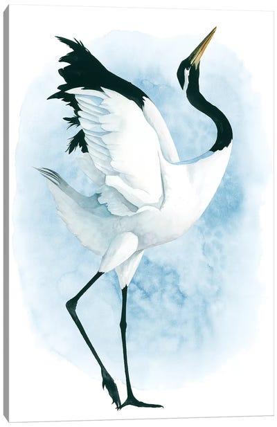 Dancing Crane II Canvas Art Print