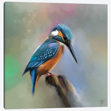 King Fisher Canvas Print #POR15} by Petur Orn Canvas Art Print