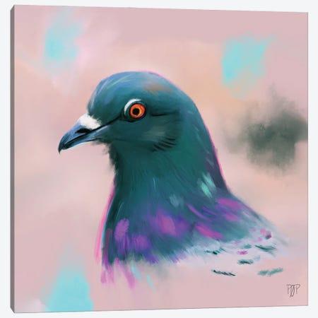 Pigeon Canvas Print #POR16} by Petur Orn Art Print