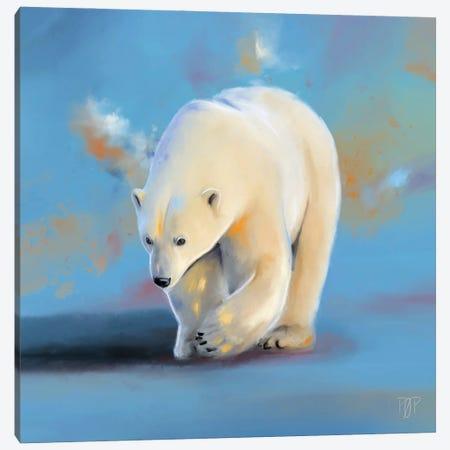 Polar Bear I Canvas Print #POR17} by Petur Orn Canvas Art Print