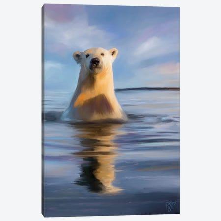 Polar Bear II Canvas Print #POR18} by Petur Orn Canvas Art