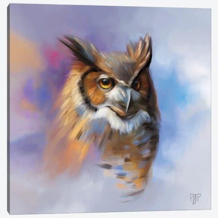 Horn Owl II Canvas Print #POR1} by Petur Orn Canvas Wall Art