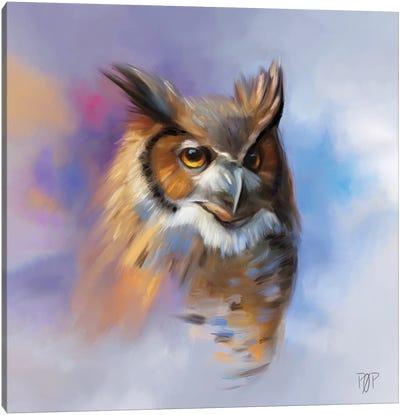 Horn Owl II Canvas Art Print