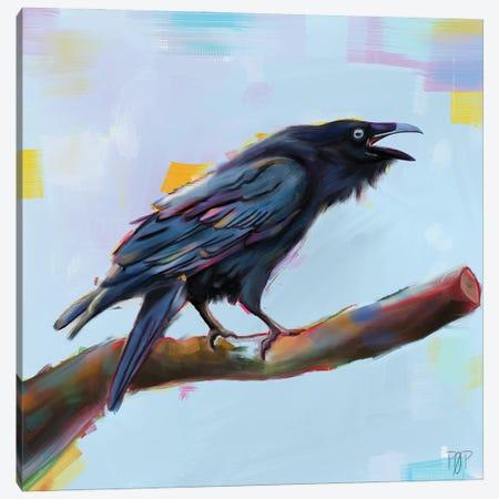 Raven II Canvas Print #POR21} by Petur Orn Canvas Print