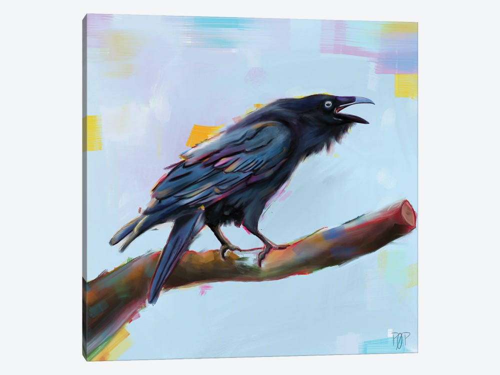 Raven II by Petur Orn 1-piece Canvas Wall Art