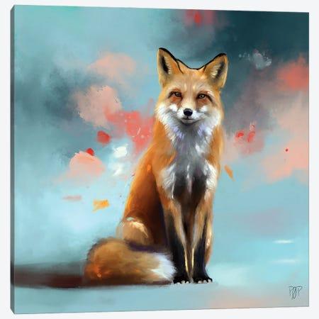 Red Fox 1 Canvas Print #POR23} by Petur Orn Canvas Print