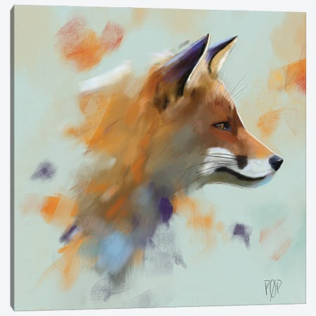 Red Fox II Canvas Print #POR24} by Petur Orn Canvas Artwork