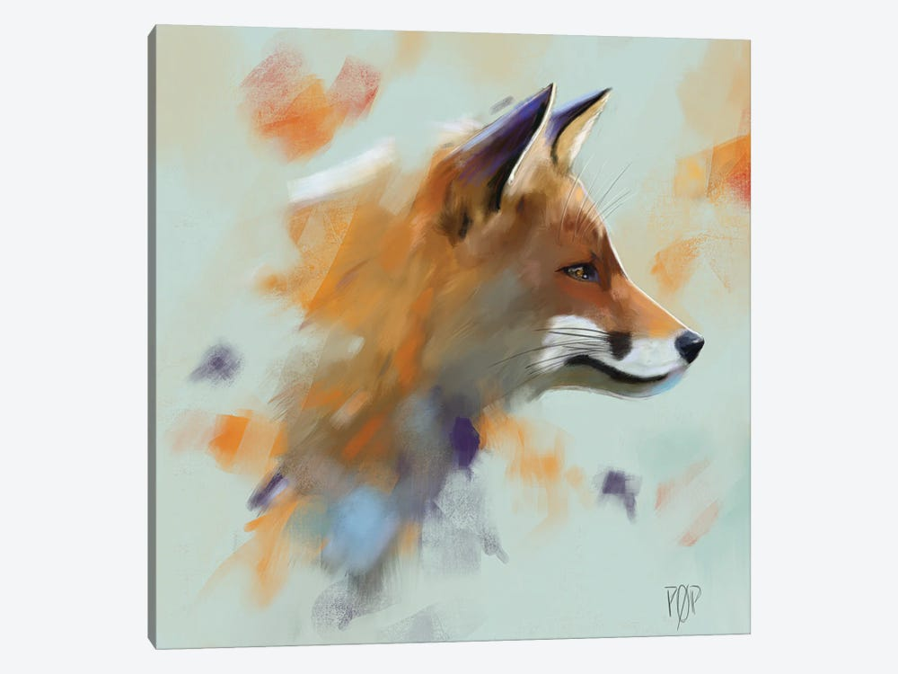 Red Fox II by Petur Orn 1-piece Canvas Print