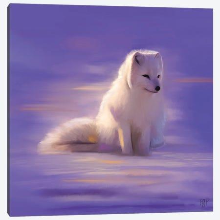 White Fox Canvas Print #POR31} by Petur Orn Canvas Art