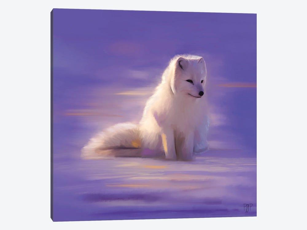 White Fox by Petur Orn 1-piece Canvas Print