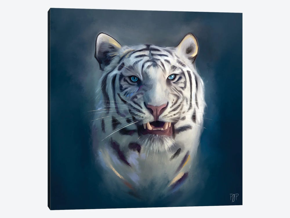 White Tiger II by Petur Orn 1-piece Canvas Wall Art