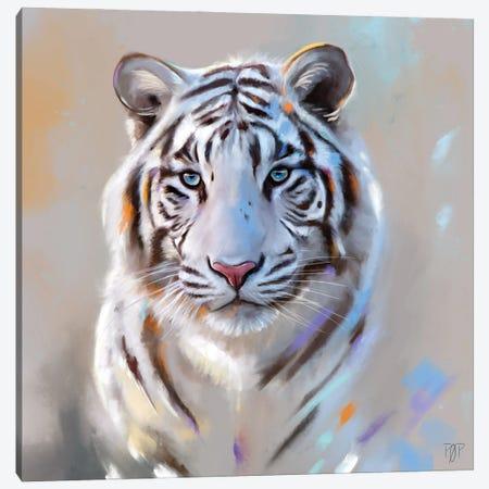 White Tiger Canvas Print #POR33} by Petur Orn Canvas Artwork
