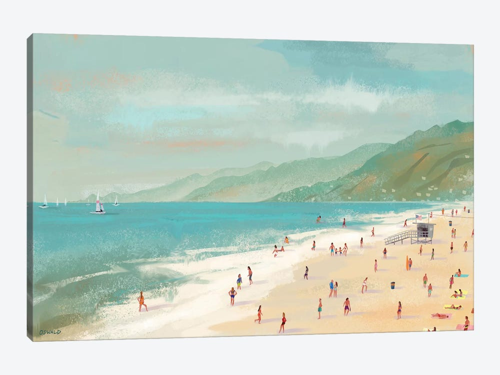 Santa Monica Beach by Pete Oswald 1-piece Canvas Wall Art