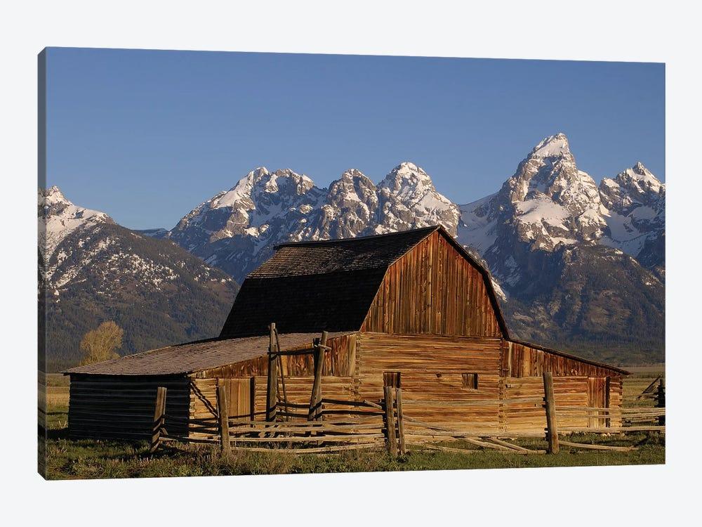 Cunningham Cabin In Front Of Grand Teton Range, Wyoming, Close-up by Pete Oxford 1-piece Canvas Artwork