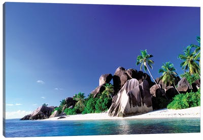 Anse Source d'Argent, La Digue, Republic Of Seychelles Canvas Art Print