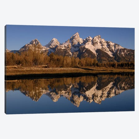 Teton Range, Grand Teton National Park, Wyoming Canvas Print #POX36} by Pete Oxford Art Print