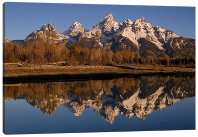 Teton Range, Grand Teton National Park, Wyoming Canvas Art Print