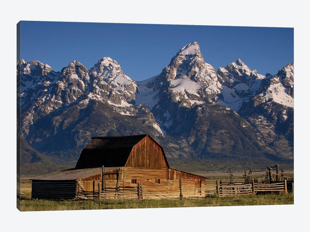 Cunningham Cabin In Front Of Grand Teton Range, Wyoming by Pete Oxford 1-piece Canvas Art