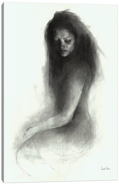 Old Charcoal Canvas Art Print