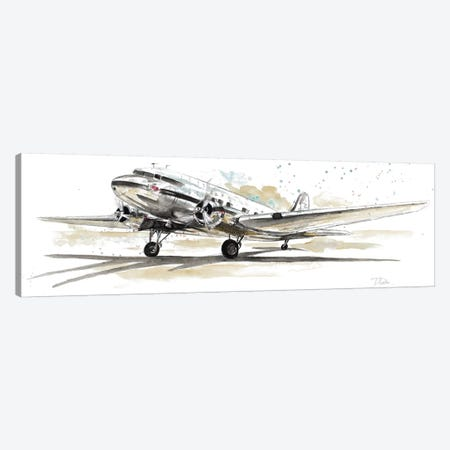 DC3 Airplane Canvas Print #PPI100} by Patricia Pinto Canvas Art Print