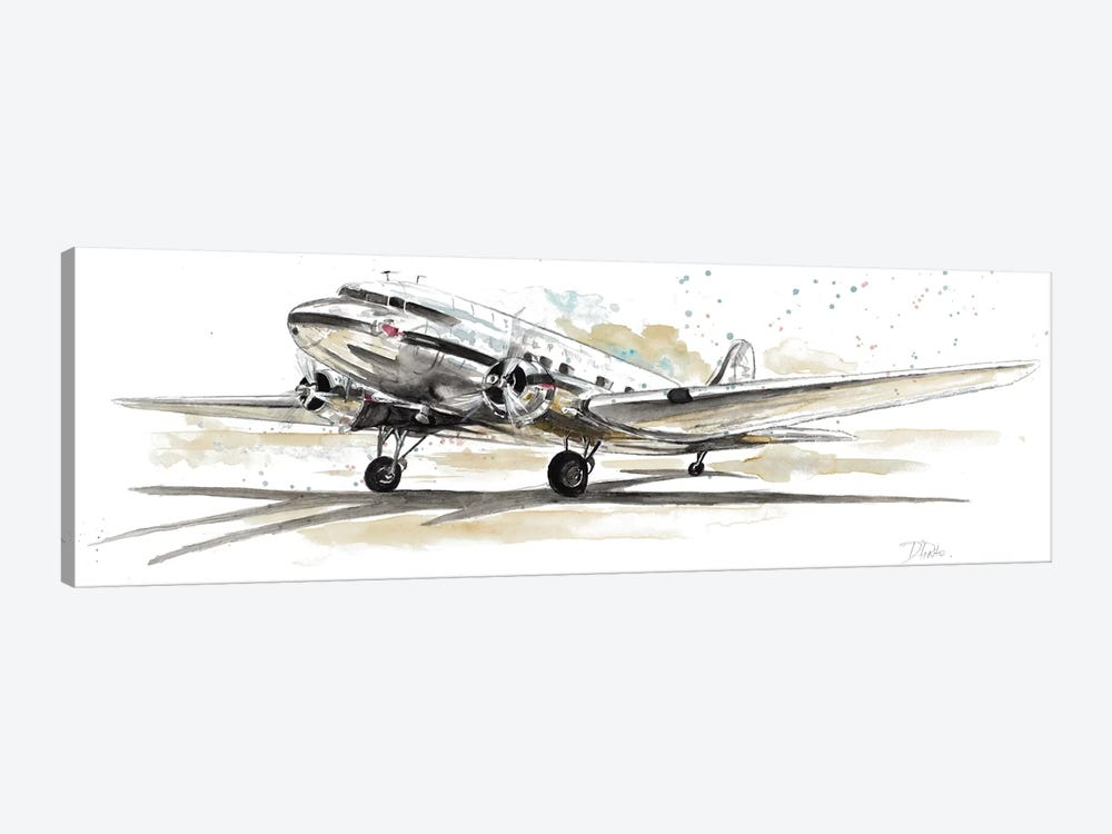 DC3 Airplane 1-piece Canvas Wall Art