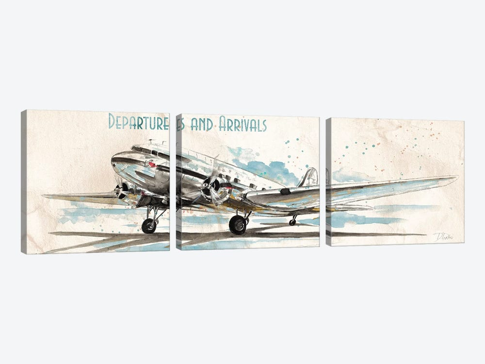 Departures & Arrivals by Patricia Pinto 3-piece Canvas Artwork