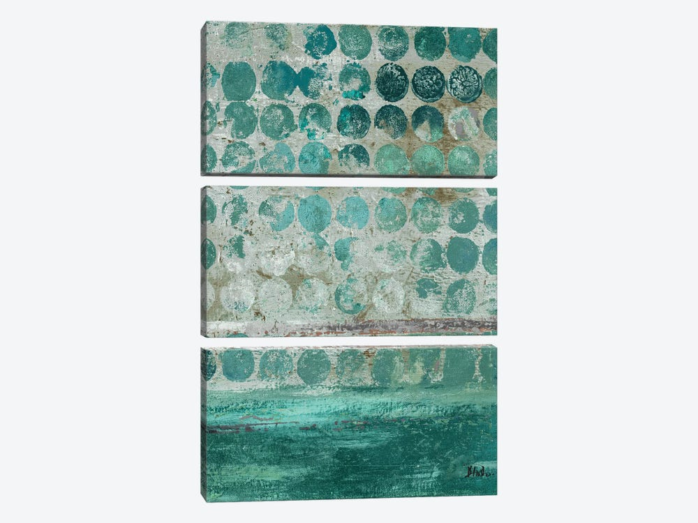 Dots on Turquoise by Patricia Pinto 3-piece Canvas Wall Art