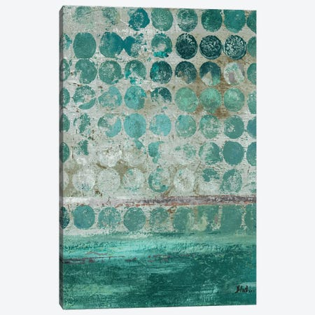 Dots on Turquoise Canvas Print #PPI104} by Patricia Pinto Canvas Artwork