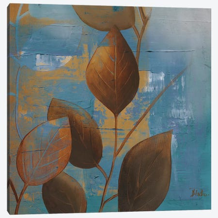 Eco Blue I Canvas Print #PPI109} by Patricia Pinto Art Print