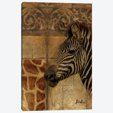 Elegant Safari I (Zebra) Canvas Print #PPI113} by Patricia Pinto Canvas Artwork