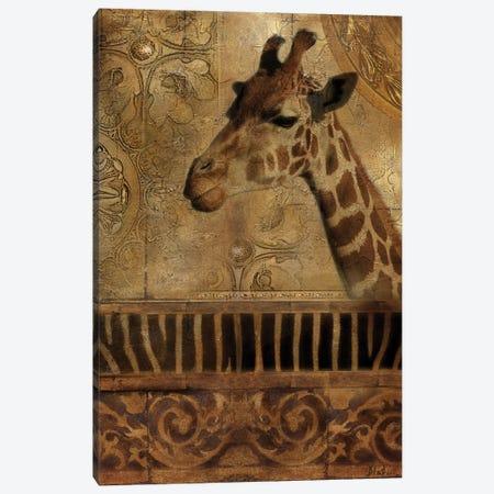 Elegant Safari III (Giraffe) Canvas Print #PPI114} by Patricia Pinto Art Print