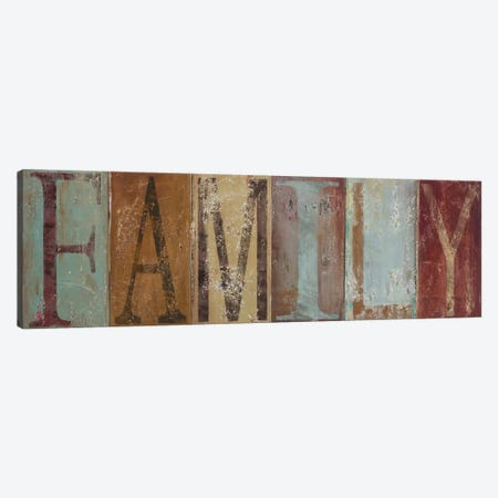 FAMILY 3-Piece Canvas #PPI122} by Patricia Pinto Art Print