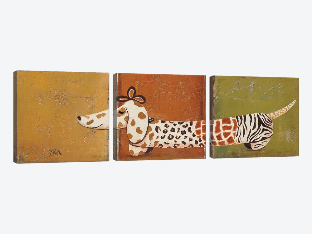 Fashion Puppy I by Patricia Pinto 3-piece Art Print