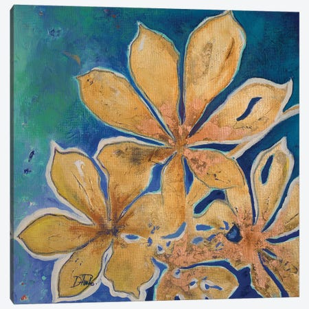 Fiori d' Oro I Canvas Print #PPI125} by Patricia Pinto Canvas Artwork