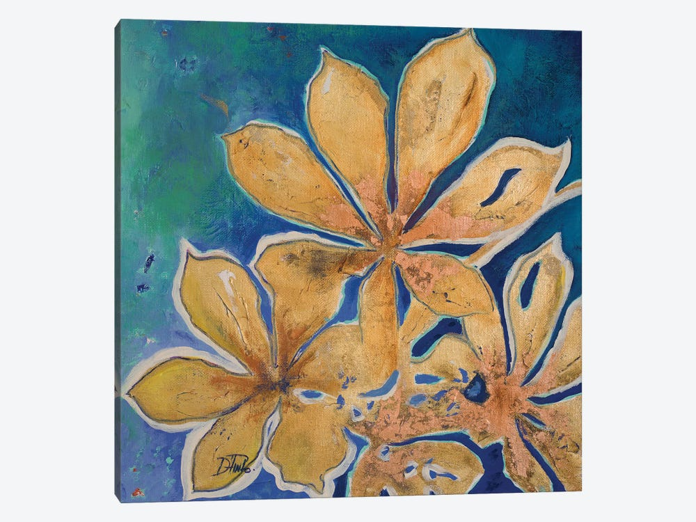 Fiori d' Oro I by Patricia Pinto 1-piece Canvas Art Print