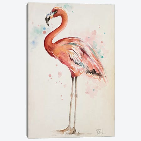Flamingo I Canvas Print #PPI127} by Patricia Pinto Canvas Art