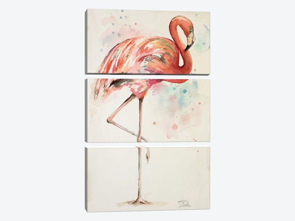 Flamingo II by Patricia Pinto 3-piece Canvas Art