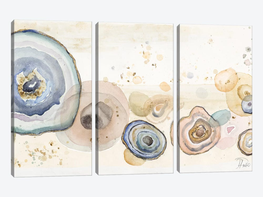 Agates Flying Watercolor by Patricia Pinto 3-piece Art Print