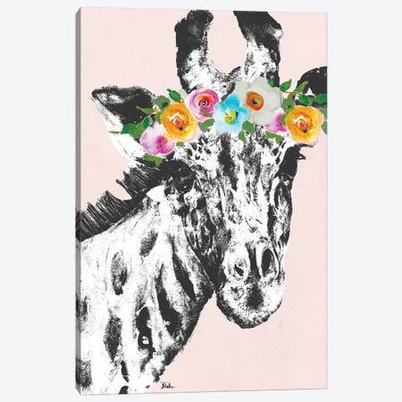Flower Crown Giraffe Canvas Print #PPI131} by Patricia Pinto Canvas Artwork