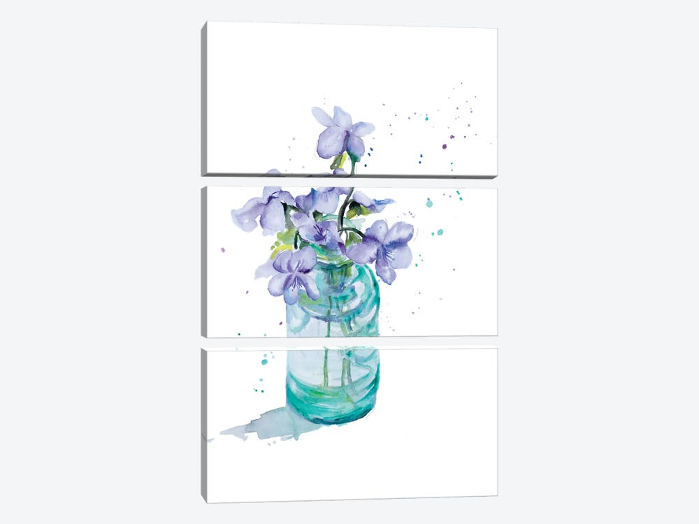 Fresh Little Flower II by Patricia Pinto 3-piece Canvas Wall Art