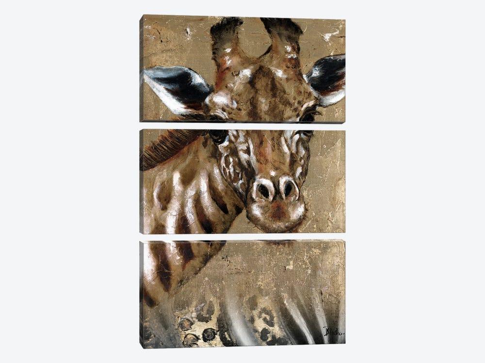 Giraffe on Print by Patricia Pinto 3-piece Art Print