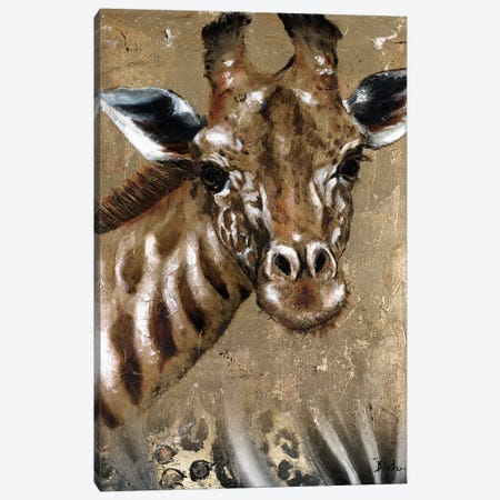 Giraffe on Print Canvas Print #PPI138} by Patricia Pinto Canvas Art