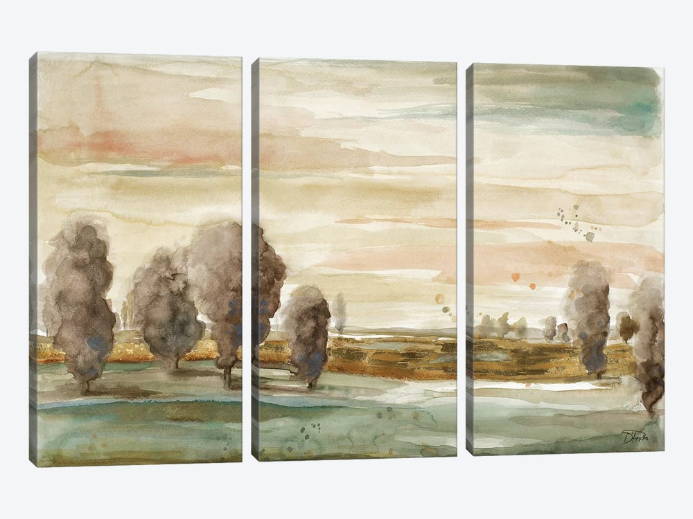 Gold in the River by Patricia Pinto 3-piece Canvas Print