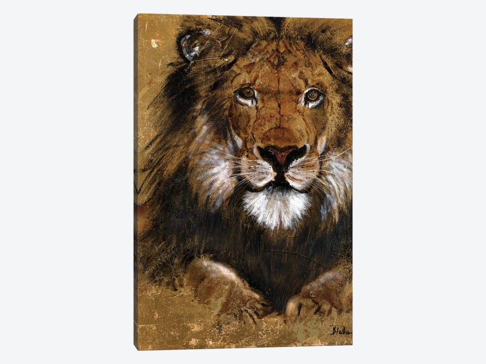 Gold Lion by Patricia Pinto 1-piece Art Print
