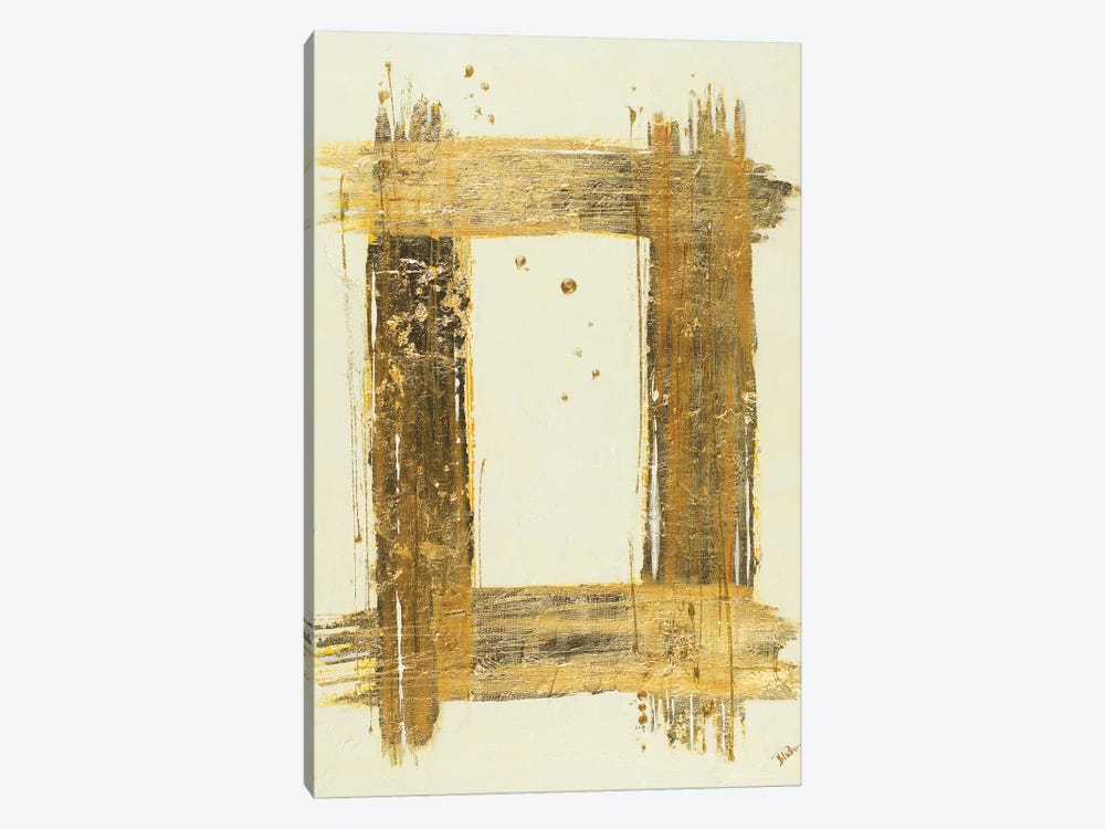 Gold Rectangle by Patricia Pinto 1-piece Canvas Print
