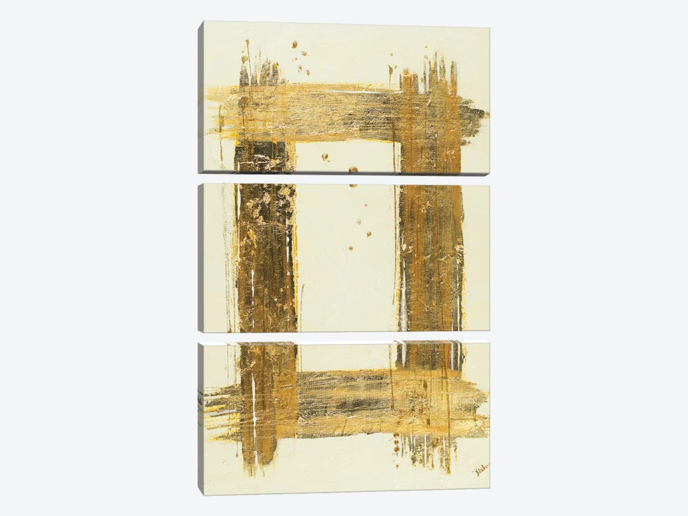 Gold Rectangle by Patricia Pinto 3-piece Art Print