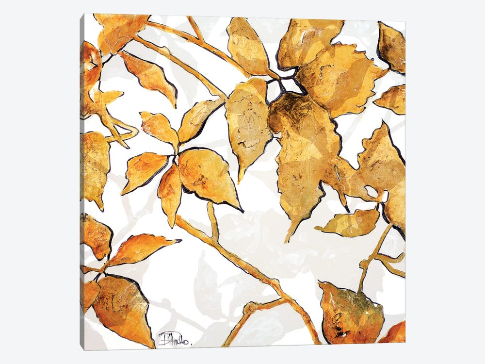 Gold Shadows I by Patricia Pinto 1-piece Canvas Wall Art